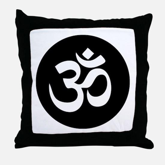 Om Symbol Circle Throw Pillow