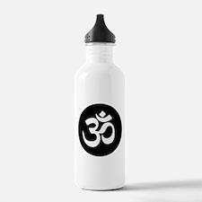 Om Symbol Circle Water Bottle