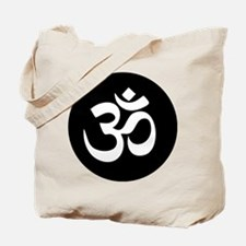 Om Symbol Circle Tote Bag