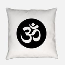 Om Symbol Circle Everyday Pillow