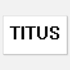 Titus Digital Name Design Decal