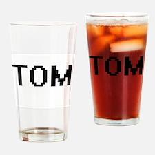 Tom Digital Name Design Drinking Glass
