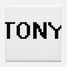 Tony Digital Name Design Tile Coaster