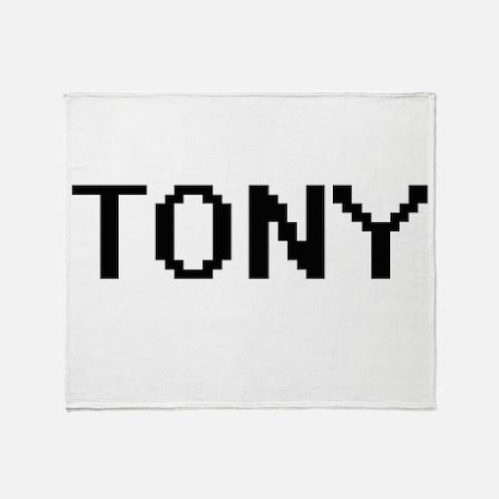 Tony Digital Name Design Throw Blanket