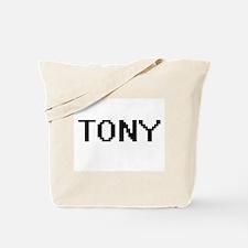 Tony Digital Name Design Tote Bag