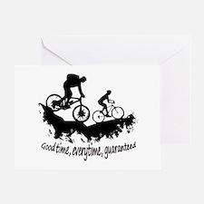 Mountain Biking Good Time Greeting Cards