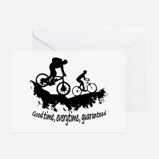 Mountain Biking Good Time Greeting Cards