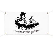 Mountain Biking Good Time Inspirational Quote Bann