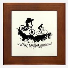 Mountain Biking Good Time Inspirational Quote Fram