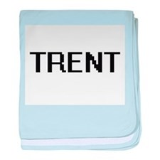 Trent Digital Name Design baby blanket