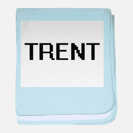 Trent Digital Name Design baby blanket