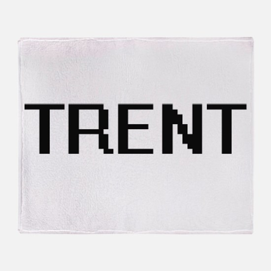 Trent Digital Name Design Throw Blanket