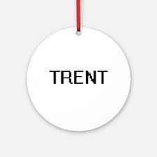 Trent Digital Name Design Ornament (Round)