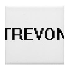 Trevon Digital Name Design Tile Coaster