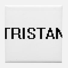 Tristan Digital Name Design Tile Coaster