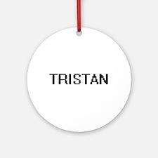 Tristan Digital Name Design Ornament (Round)