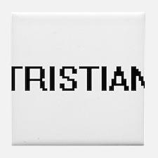 Tristian Digital Name Design Tile Coaster