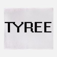 Tyree Digital Name Design Throw Blanket