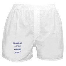 GRAMPA'S LITTLE FISHING BUDDY Boxer Shorts