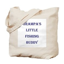 GRAMPA'S LITTLE FISHING BUDDY Tote Bag