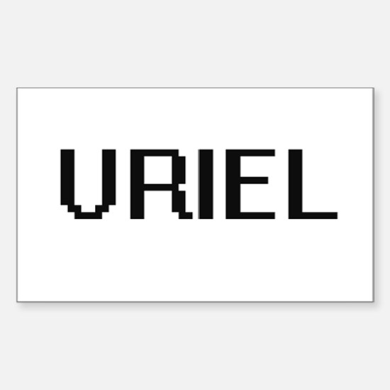 Uriel Digital Name Design Decal