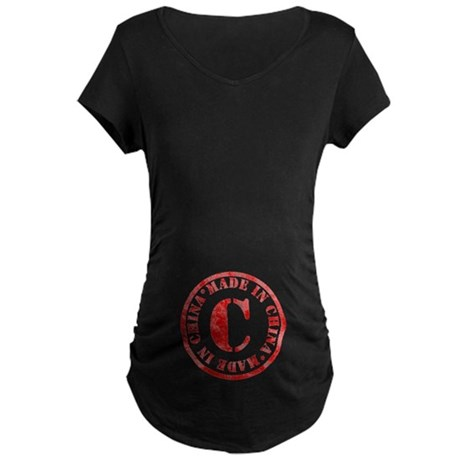 Made in China Maternity Dark T-Shirt
