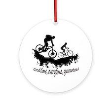 Mountain Biking Good Time Ornament (round)