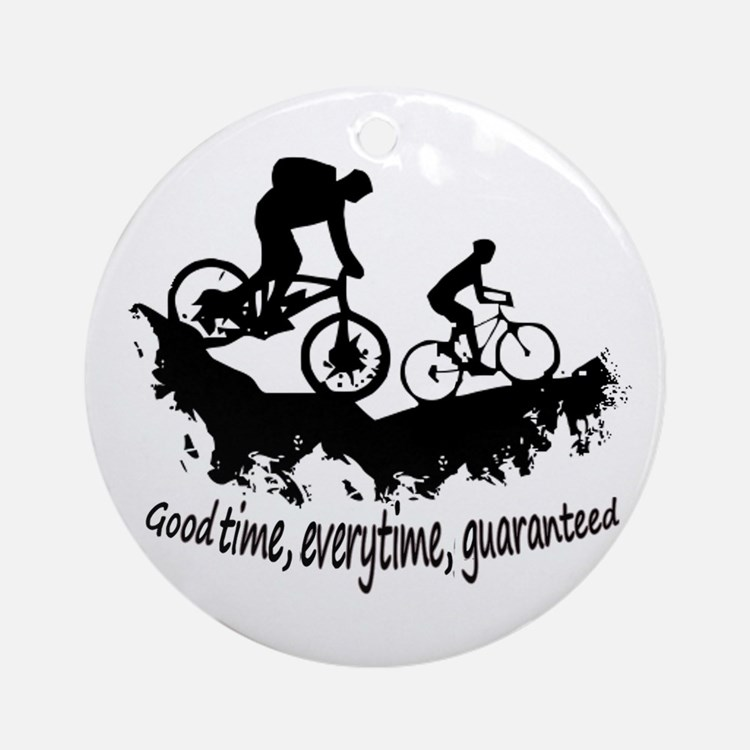 Mountain Biking Good Time Ornament (round)