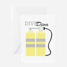 Dive Diva Greeting Cards
