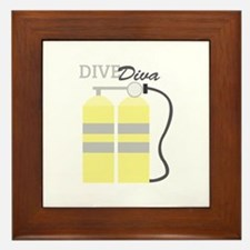 Dive Diva Framed Tile