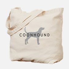 Coonhound (Grey) Dog Breed Tote Bag