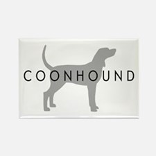 Coonhound (Grey) Dog Breed Rectangle Magnet