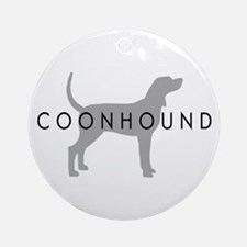 Coonhound (Grey) Dog Breed Ornament (Round)