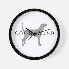 Coonhound (Grey) Dog Breed Wall Clock