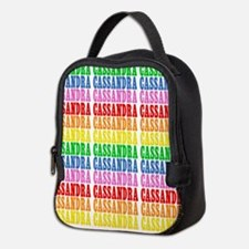 Rainbow Name Pattern Neoprene Lunch Bag