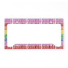 Rainbow Name Pattern License Plate Holder