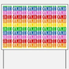 Rainbow Name Pattern Yard Sign