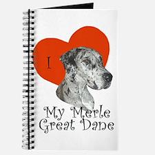 Luv My Merle Great Dane II Notepad