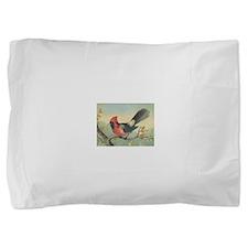 Red and Black Cardinal Pillow Sham