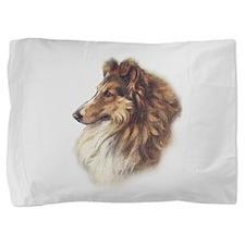 Vintage Sable Collie Pillow Sham
