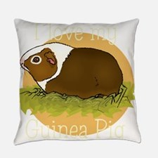 I Love my Guinea Pig Everyday Pillow