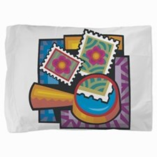 Stamp Collector Pillow Sham