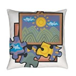 Jigsaw Puzzle Everyday Pillow