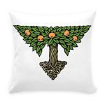 Art Nouveau Orange Tree Everyday Pillow