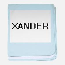 Xander Digital Name Design baby blanket