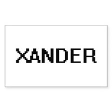 Xander Digital Name Design Decal