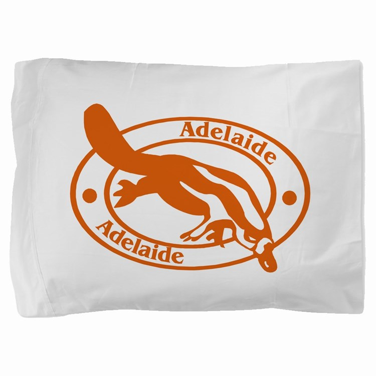 Adelaide Passport Stamp Pillow Sham