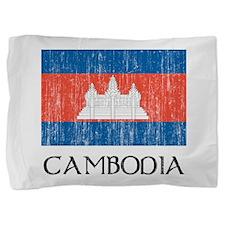 Cambodia Flag Pillow Sham