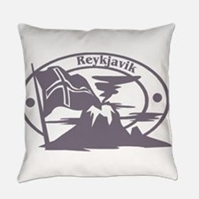 Reykjavik Passport Stamp Everyday Pillow