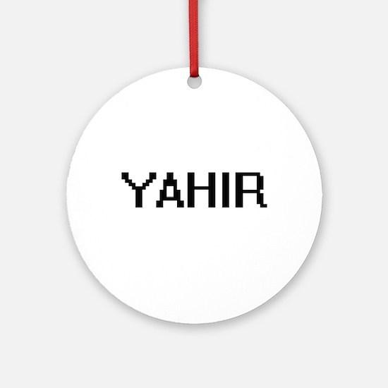 Yahir Digital Name Design Ornament (Round)